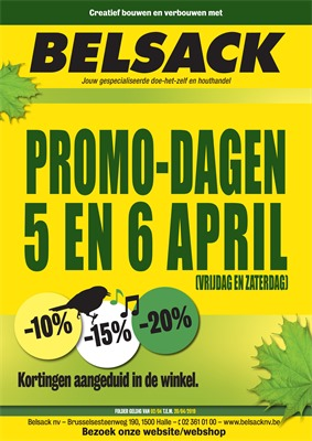 Belsack  folder van 02/04/2019 tot 20/04/2019 - Weekpromoties