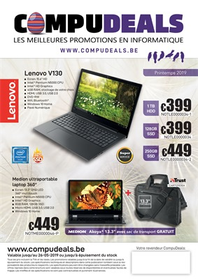 Folder Compudeals du 13/05/2019 au 26/05/2019 - Weekpromoties