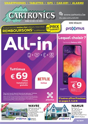 Folder Cartronics du 08/05/2019 au 30/05/2019 - Promotions du mois