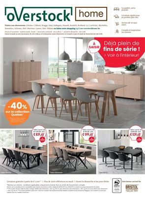 Folder Overstock du 22/05/2019 au 25/06/2019 - Promotions du mois Home