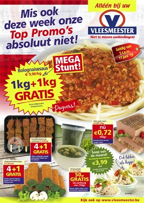 Vleesmeester folder van 05/06/2019 tot 11/06/2019 - Weekpromoties