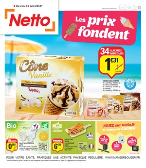 Folder Netto du 04/06/2019 au 16/06/2019 - Promotions de la semaine