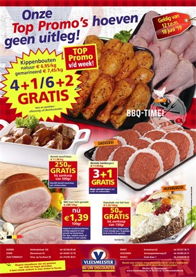 Vleesmeester folder van 12/06/2019 tot 18/06/2019 - Weekpromoties