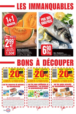 Folder Cora du 25/06/2019 au 01/07/2019 - Coupons de réduction