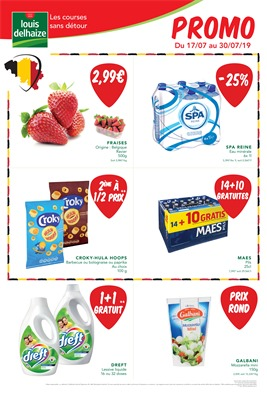 Folder Louis Delhaize du 17/07/2019 au 30/07/2019 - Promotions du mois