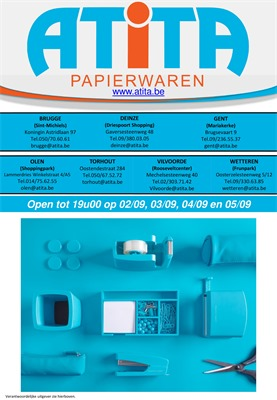 Atita folder van 12/08/2019 tot 15/09/2019 - Maandpromoties