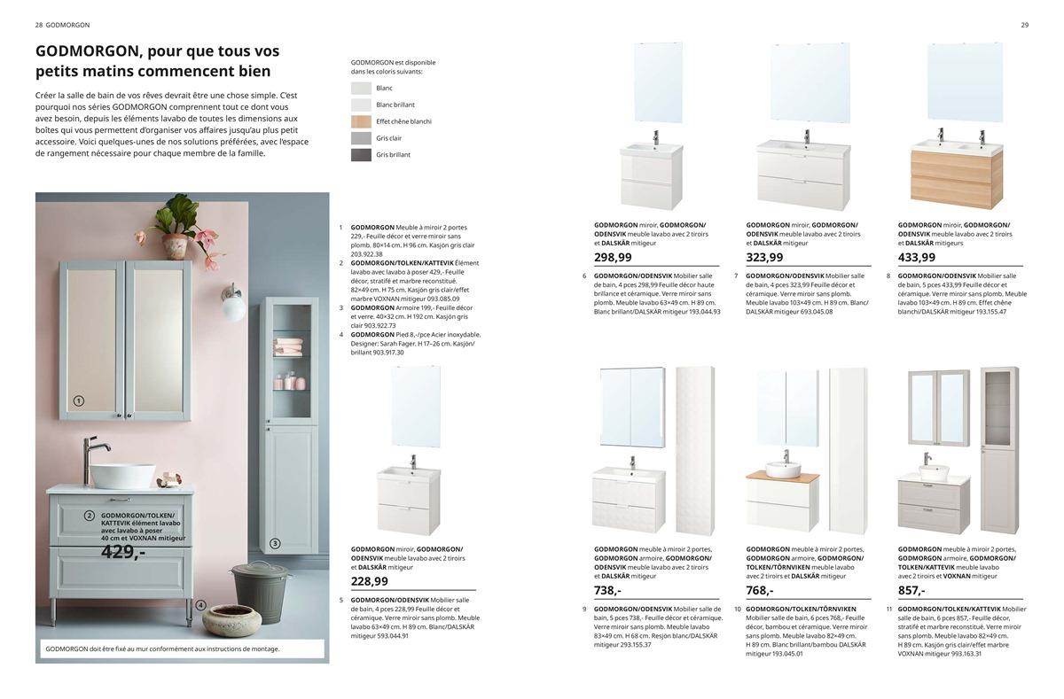 Feuille Stratifié Blanc Brillant folder ikea du 22/08/2019 au 31/12/2019 - salle de bains