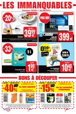 Folder Cora du 20/08/2019 au 26/08/2019 - Coupons de réduction