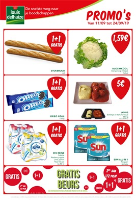 Louis Delhaize folder van 11/09/2019 tot 24/09/2019 - Weekpromoties