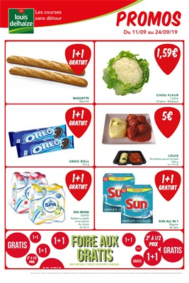 Folder Louis Delhaize du 11/09/2019 au 24/09/2019 - Promotions du mois