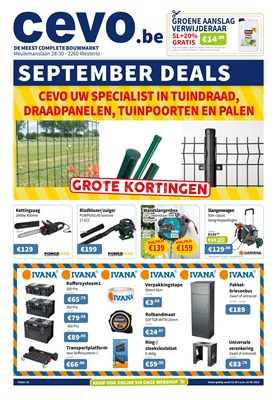Cevo folder van 12/09/2019 tot 25/09/2019 - Weekpromoties