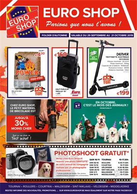 Folder Euro Shop du 30/09/2019 au 21/10/2019 - Promotions du mois