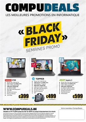 Folder Compudeals du 19/11/2019 au 02/12/2019 - Promotions Black Friday