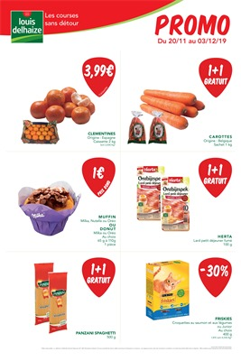 Folder Louis Delhaize du 20/11/2019 au 03/12/2019 - Promotions de la semaine