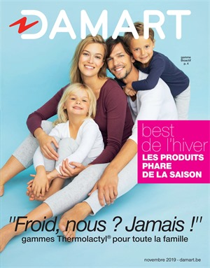 Folder Damart du 01/12/2019 au 15/12/2019 - Promotions de fin d'année