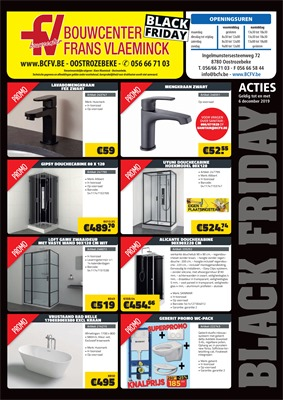 Bouwcenter Frans Vlaeminck folder van 28/11/2019 tot 06/12/2019 - Black Friday