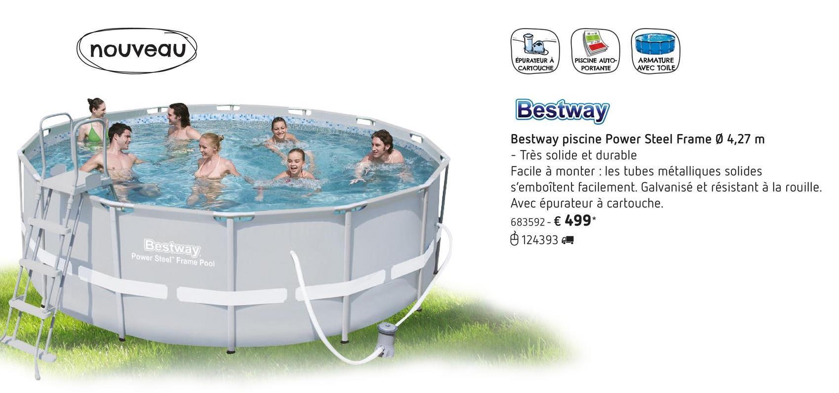 piscine tubulaire lidl