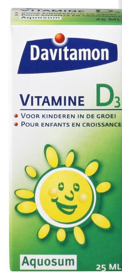 Davitamon VITAMINE • VOOR KINDEREN IN DE GROEI • POUR ENFANTS EN CROISSANCE Aquosum 25 ML