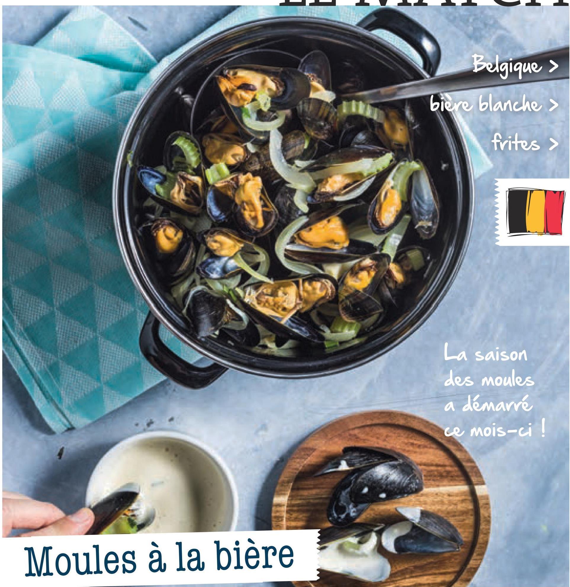Folder Spar du 29/06/2018 au 31/07/2018 - Belgique > biere blanche > frites > La saison des moules a démarré ce mois-ci ! Moules à la bière