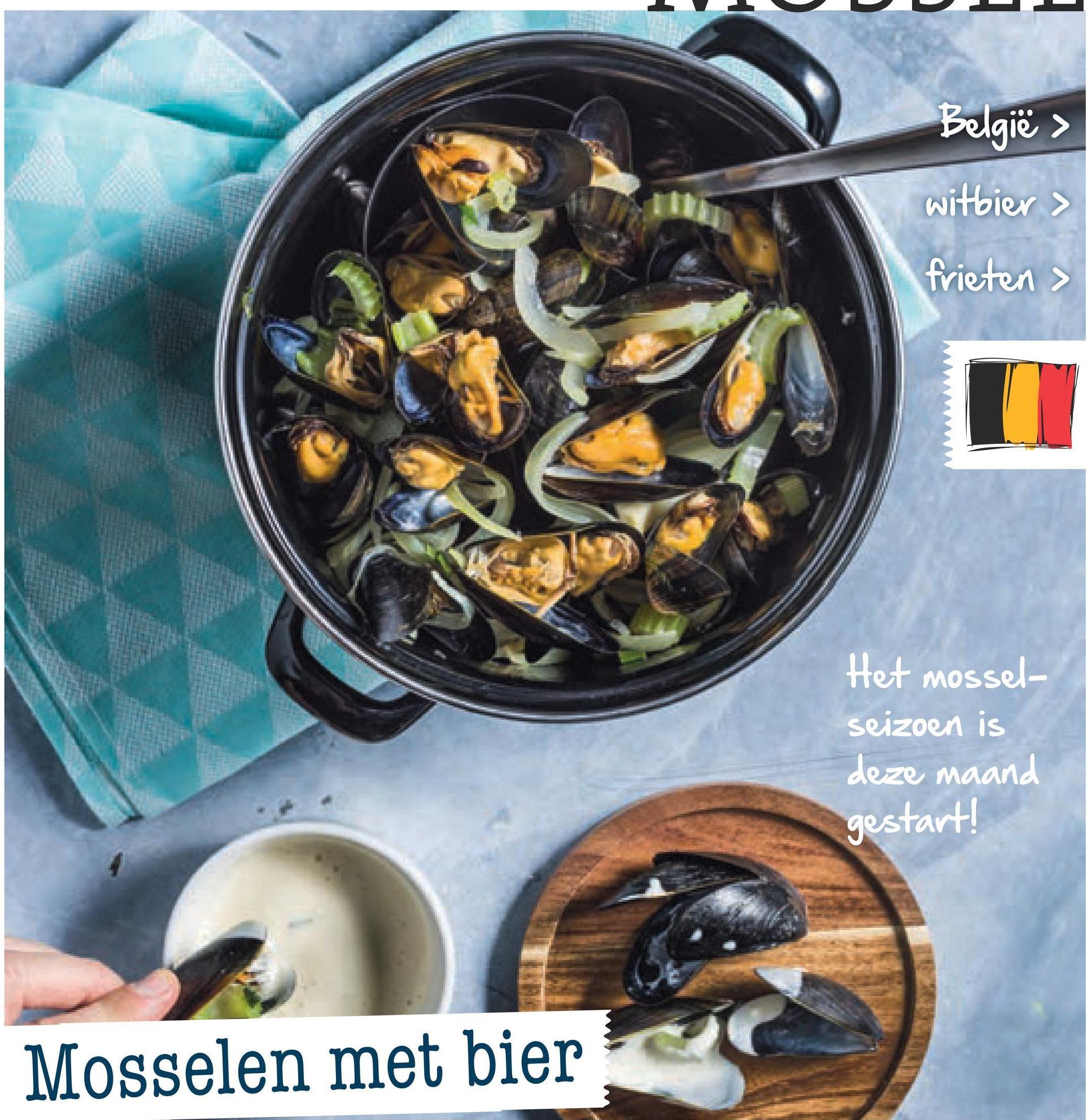 Spar folder van 29/06/2018 tot 31/07/2018 - België > witbier > frieten > Het mossel- seizoen is deze maand gestart! Mosselen met bier