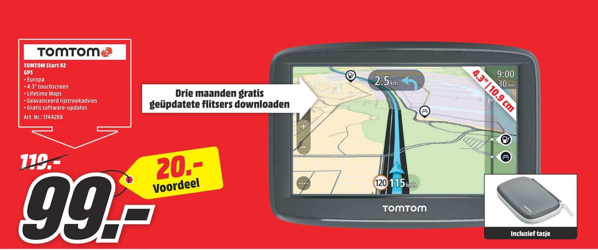 MediaMarkt folder van 16/07/2018 tot 22/07/2018 - TOMTOM Start 42 GPS auto West-Europa (1AA4.054.00) 1AA4.054.00 START 42 WESTERN EUROPE 23 COUNTRIES