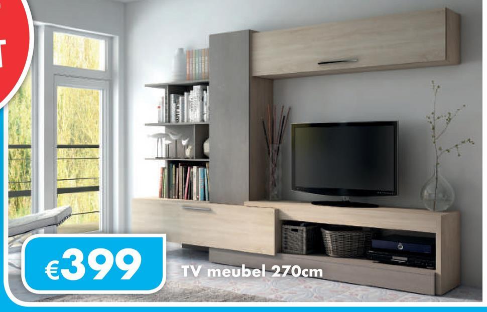 €399 TV meubel 270cm