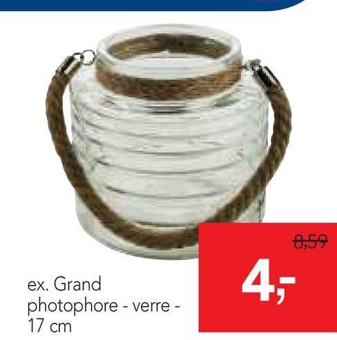8,59 4, ex. Grand photophore - verre - 17 cm