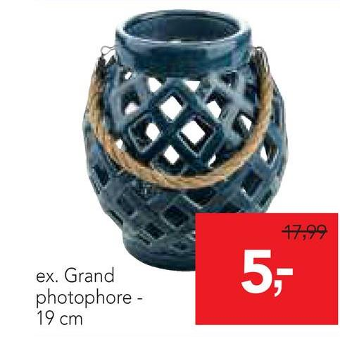 17,99 ex. Grand photophore - 19 cm