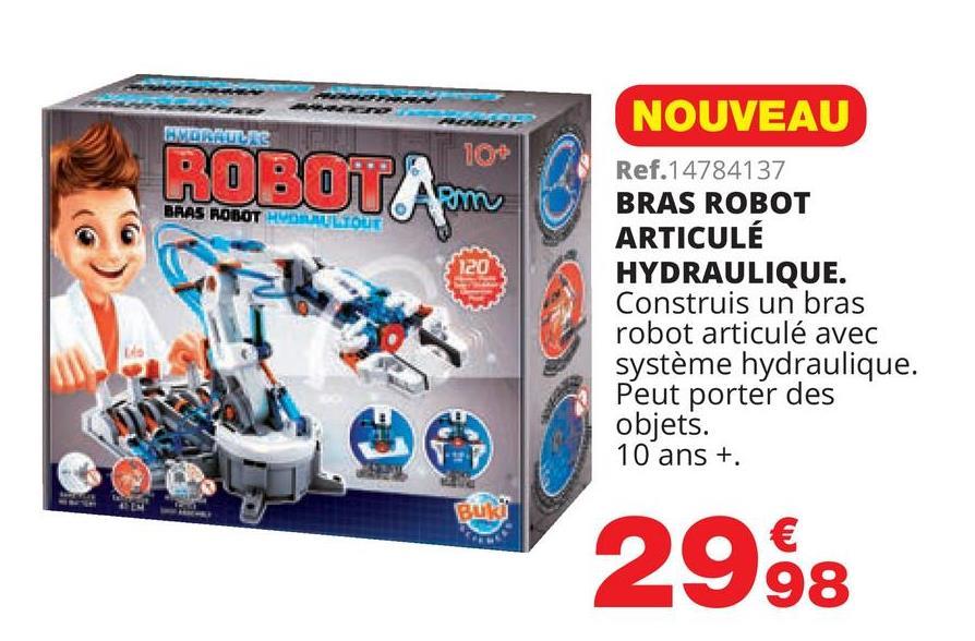 WORLIKE ROBOTA BRAS ROBOT H UULTOUT NOUVEAU Ref.14784137 BRAS ROBOT ARTICULÉ HYDRAULIQUE. Construis un bras robot articulé avec système hydraulique. Peut porter des objets. 10 ans + 2998
