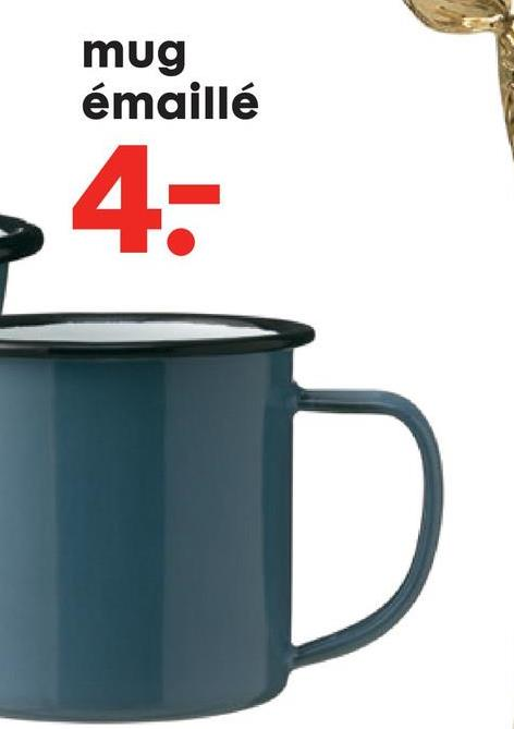 HEMA Mug Émaillé Mug bleu clair en métal émaillé à liseré noir.