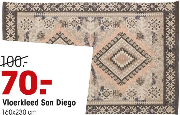 ON 100- INVENTO 70: UTVUJUD Vloerkleed San Diego 160x230 cm