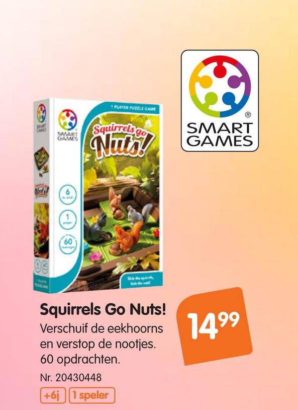 Spel Squirrels Go Nuts Verschuif de eekhoorns en verstop de nootjes. Kan jij de eekhoorns helpen om hun wintervoorraad onder de grond te verstoppen?