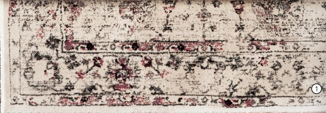 Tapijt Sevilla - wit/roze - 160x230 cm - Leen Bakker Tapijt Sevilla is een klassiek tapijt in wit en roze. Het tapijt is heerlijk zacht en zeer decoratief.