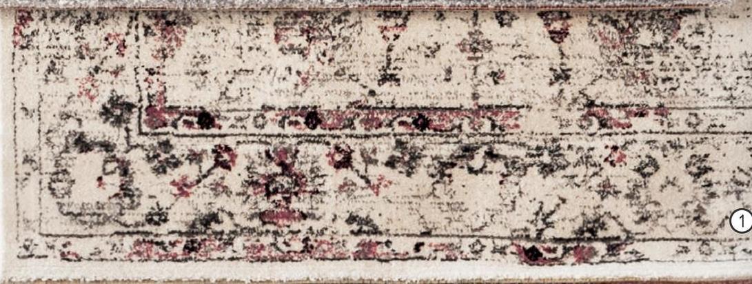 Tapis Sevilla - blanc/rose - 160x230 cm - Leen Bakker Tapis Sevilla est un beau tapis blanc et rose. Agréablement doux et très décoratif
