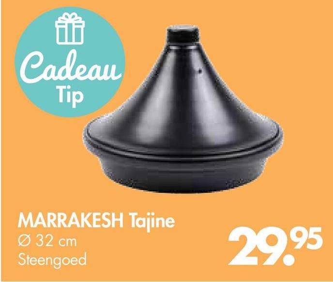 Cadeau Tip MARRAKESH Tajine Ø 32 cm Steengoed 2995