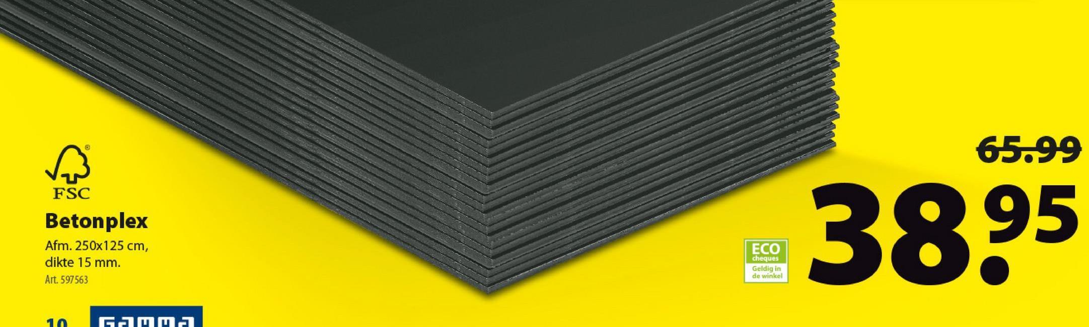 Betonmultiplex FSC 250x125 cm 15 mm Betonmultiplex of betonplex is een glad plaatmateriaal op basis van duurzaam hout en betonplex aan beide zijden. Het geschuurde plaatmateriaal van 1,25 op 2,50 meter en 15 mm dik is ideaal voor betonbekistingen. Bijkomende troeven? Betonmultiplex is een bewerkt materiaal en vochtbestendig.