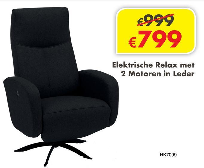 Relax 7099 Elektrische relax in leder.