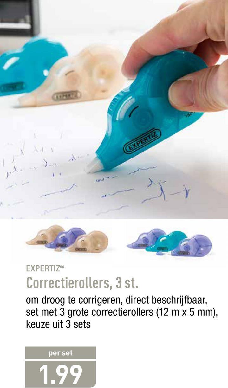 EXPERTIE EXPERTIZ Correctierollers, 3 st. om droog te corrigeren, direct beschrijfbaar, set met 3 grote correctierollers (12 m x 5 mm), keuze uit 3 sets per set 1.99