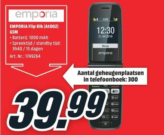 EMPORIA GSM FLIPbasic Gold (F220J_001_C_CHNL) EMPORIA GSM FLIPbasic Gold (F220J_001_C_CHNL)
