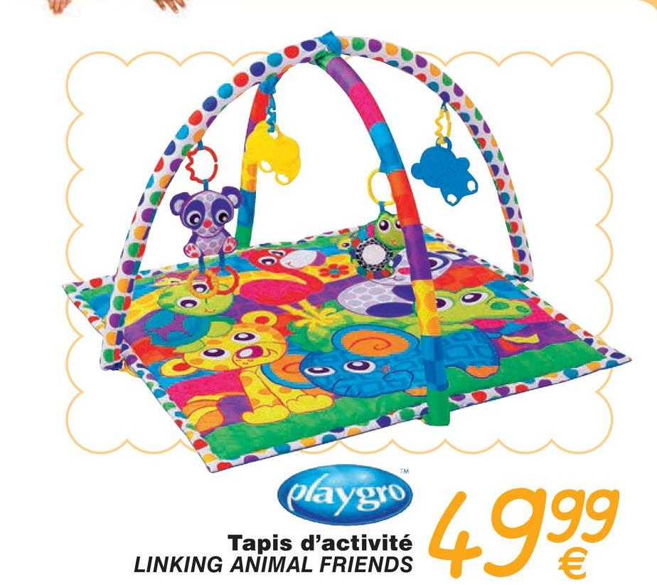 playgro agg Tapis d'activité LINKING ANIMAL FRIENDS