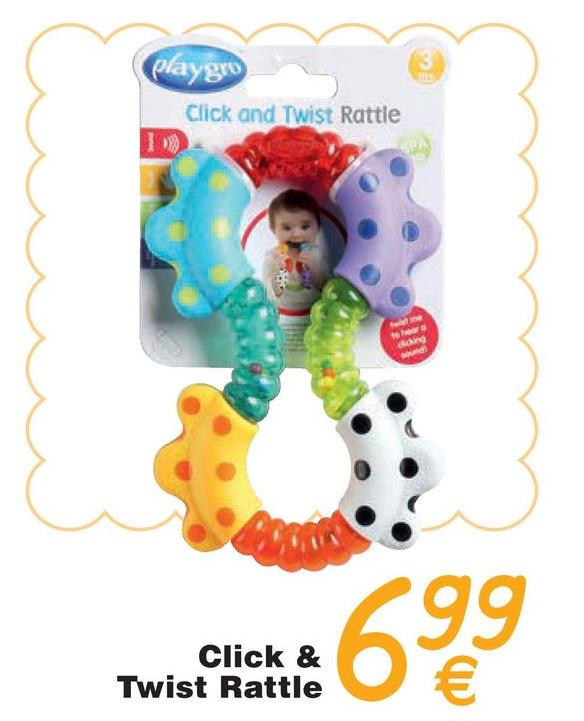caygro Click and Twist Rattle ding 99 Click & Twist Rattle