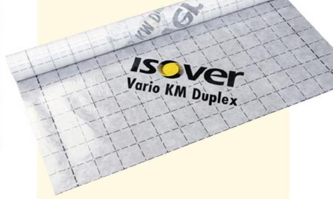Pare-vapeur Isover Vario KM Duplex 20x1,5 m 30 m² (uniquement en vente Isover Vario Optima System est un système d'isolation simple et complet. Il se compose de plusieurs accessoires comme ce pare-vent/vapeur en polymère au pouvoir hygro-régulant Isover Vario KM Duplex de 30 m². Cette membrane climatique s'adapte au taux d'humidité du moment et contribue au climat sec et sain dans la maison. À partir d'une humidité ambiante de 60%, le Vario® KM duplex devient perméable à la vapeur d'eau. En hiver, le Vario® KM duplex joue son rôle de pare-vapeur et en été, il permet le séchage des bois de charpente.