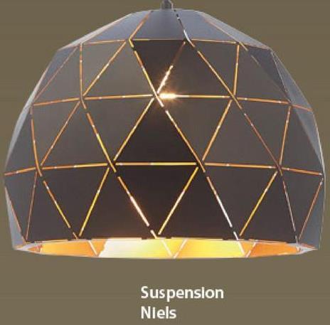 Suspension Niels GAMMA métal/blanc -