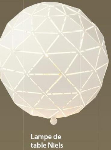 Lampe de table Niels GAMMA blanc -