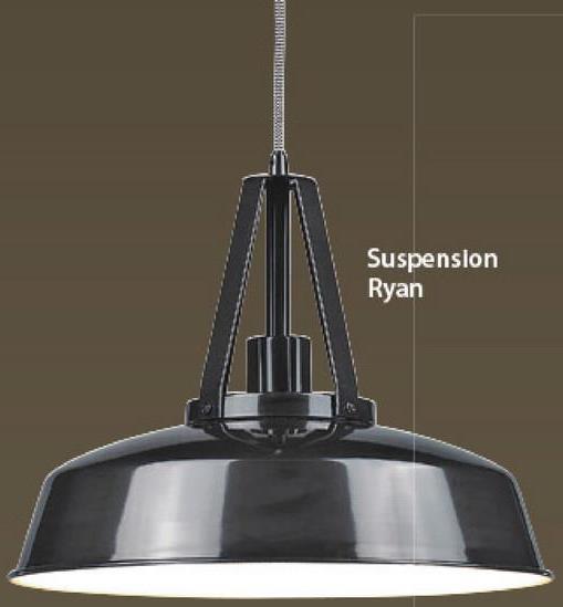 Suspension Ryan gris -