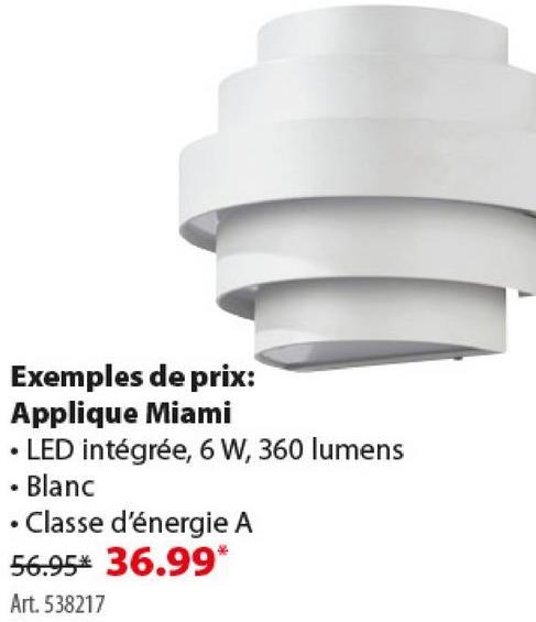Applique extérieure Miami GAMMA LED intégrée 6W 360 lumens blanc L'applique d'extérieur Cardiff de GAMMA présente un design en demi-cercle. En aluminium gris avec une ampoule LED intégrée de 6 W. Pour l'amateur de luminaires modernes, quasi futuristes.