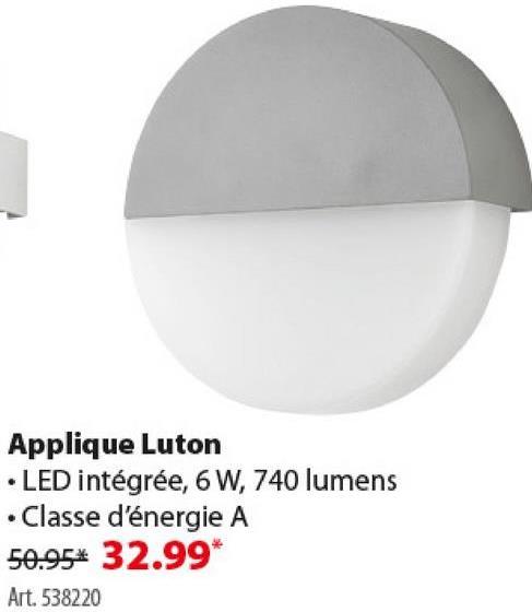 Applique extérieure Luton GAMMA LED intégrée 6W 740 lumens gris L'applique d'extérieur Luton de GAMMA présente un design arrondi. En aluminium gris, avec une ampoule LED intégrée de 6 W. Pour l'amateur de luminaires modernes, quasi futuristes.