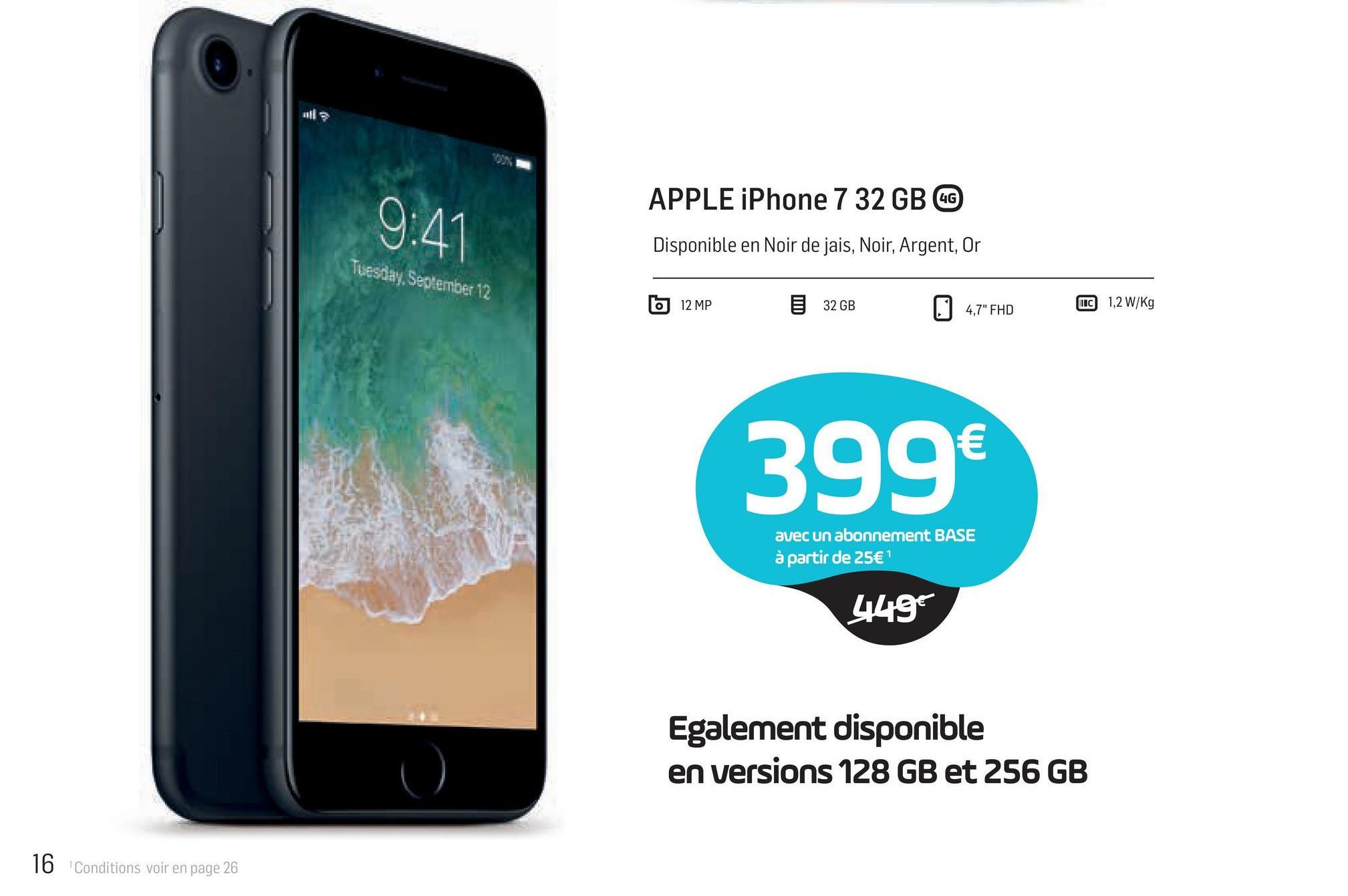 a3eb6604cb11e6 9 41 APPLE iPhone 7 32 GB  G Disponible en Noir de jais,