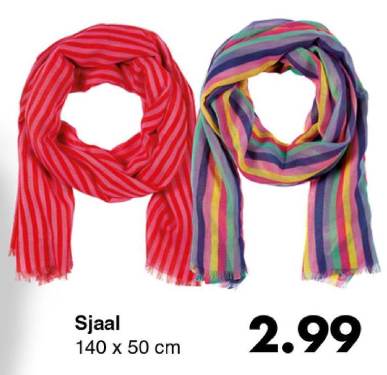 Sjaal 140 x 50 cm 2.99