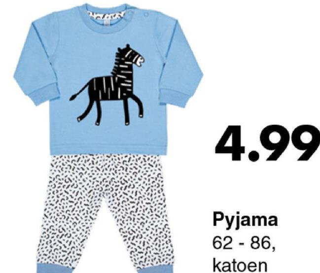 4.99 Pyjama 62 - 86, katoen